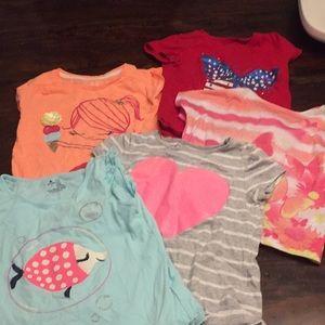 Bundle of girls size 4 shirts